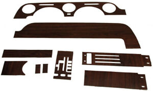 Dash Insert For 1968 Ford Mustang Console Dash Woodgrain Made In Usa Vinyl