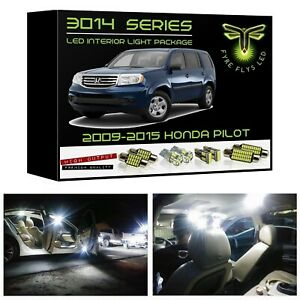 White Led Interior Light Package Kit For 2009 2015 Honda Pilot 3014 Series tool