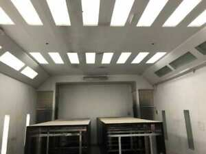 33 X 20 X 12 Drive In Spray Paint Booth W Exhaust Lights