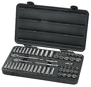 Gearwrench Kd 80550 57 Piece 3 8 Drive 6 Point Socket Set Brand New