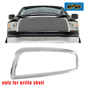 Eag Fit For 2009 2012 Dodge Ram 1500 Chrome Grille Shell Abs Plastic