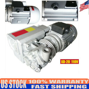 Industrial Rotary Vane Vacuum Pump Vacuum Machine Motor 20m h Universial 110v