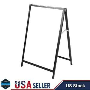 Double Side Sidewalk Pavement A Frame Iron Sandwich Message Board Menu Sign New