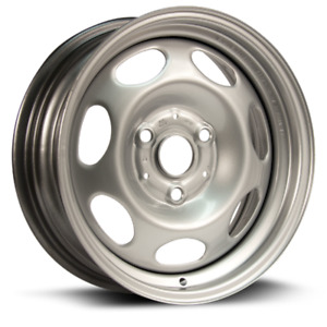 15 Inch 3 Lug Silver Steel Wheels Fits Smart Car 2008 Thru 2014 We90258n