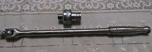 Snap On Ns15l Flex Head Breaker Bar 1 2 Drive 15 5 1959 Usa 9 With Adapter