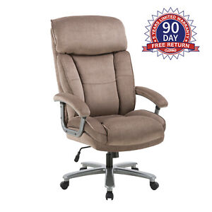 Upholstered Swivel Executive Chair Home Office Computer Desk Adjustable Height