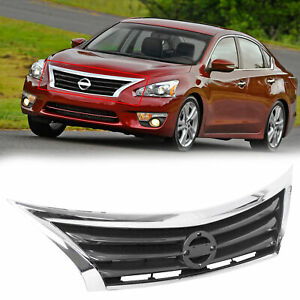 Front Bumper Grille Upper Grill Assembly Chrome For 2013 2015 14 Nissan Altima