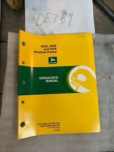 John Deere 630a 640a 645a Windrow Pickup Owner s Operator s Manual Omcc47862 Nos