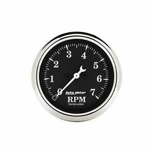 Autometer Old Tyme Black Series Tachometer 0 7 000 2 1 16 Dia In dash 1797