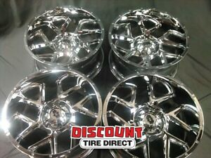 4 Used 20x10 25 5 139 7 Vision Sliver Chrome Wheels Rims 20 Inch 64646