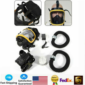 Full Face Gas Mask Constant Flow Air Supplied Fresh Air Respirator System New