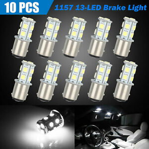 10x 6500k White 1157 Bay15d 13 smd Led Car Truck Tail Brake Stop Light Bulb 12v
