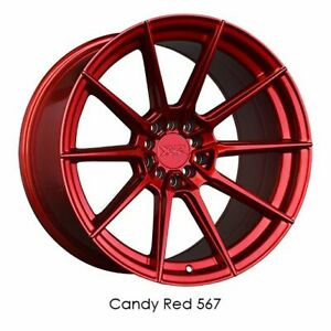 18x9 5 Candy Red Wheels Xxr 567 5x100 5x114 3 38 Set Of 4