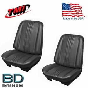 1970 Chevelle El Camino Front Bucket Seat Upholstery Black Made In Usa By Tmi