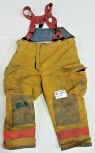 46r 46x28 Body Guard Yellow Gold Firefighter Turnout Pants With Suspenders P0118