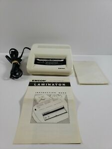 Emson Electric Laminator Model 2291 4 Wide Opening With 19 Pouches Tested