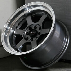 15x8 Gun Metal Wheels Vors Tr7 4x100 4x114 3 0 Set Of 4