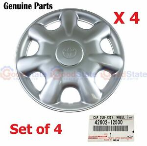 Genuine Toyota Echo Ncp11 Ncp12 Lhd Wheel Cover Hubcap 14 Inch Set Of 4