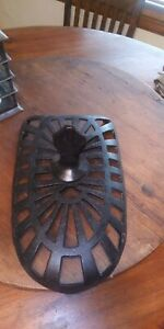 Vintage Wood Coal Burning Parlor Stove Cast Iron Decorative Top W Finial