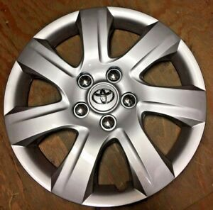 16 Silver Hubcap Fits Toyota Camry 2010 2011 Wheel Cover