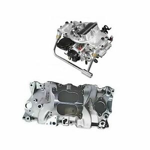 Sbc Chevy 350 Gm Performance Zz4 Intake And 600 Cfm Carb Combo