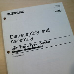 Caterpillar D8t Tractor Engine Disassembly Shop Service Manual Supplement Cat