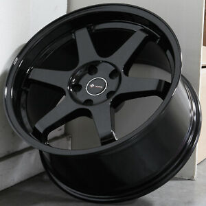 18x8 5 Black Wheels Vors Tr37 5x110 35 Set Of 4