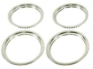 Oer Tr3015 15 Stainless Round Lip Trim Ring Set 1 5 Deep Oe Rally Wheel Only