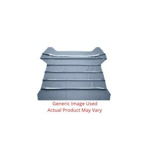 Headliner Sunvisor Material For Automotive Car And Truck 2dr Ribbed Medium Blue