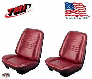 1967 Chevelle Convertible Red Madrid Bucket Seat Rear Bench Upholstery By Tmi