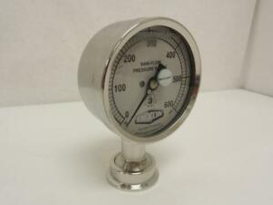 170352 Old stock Dixon 3s i 15u gf bt ss Pharmaceutical Pressure Gauge 0 600ps