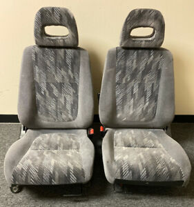 98 01 Acura Integra Front Seat Pair Great Condition Grey Confetti Oem