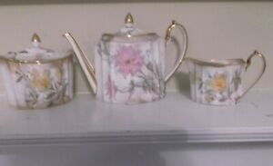 Wedgewood Porcelain Floral Tea Set Rare
