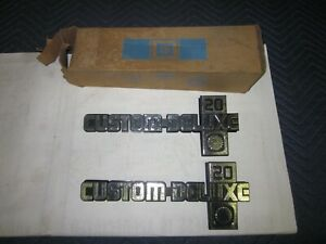 Nos 1981 89 Chevy Square Body Truck Crewcab 3 3 C20 Custom Deluxe Fender Emblems