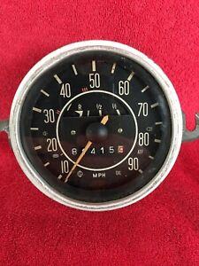 Old Volkswagen Beetle Speedometer Gauge Gas Fuel Gage Used Vdo 37 8 Vintage