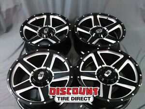 4 Used 20x9 6 135 139 7 12 Offset Vision Empire Gloss Black Wheels Rims