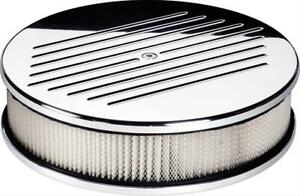 Billet Spec Air Filter Assembly 10 Dia Round Alum Ball milled Design 2 1 4