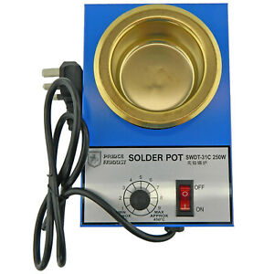 Solder Melting Pot 250w Temperature 200 450c With Uk Plug For Hobby Casting