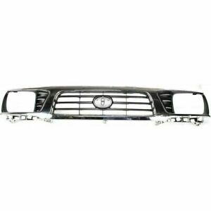 New For Toyota Tacoma Pickup Fits 1995 1997 Front Grille Chrome And Black