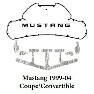 Trunk Lid Insulation Pad Cover For 1999 2004 Ford Mustang Coupe Acoustihood Kit