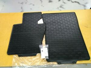 Bmw Black Front Rubber Floor Mats Old Style 2004 2010 E83 X3 3 0i 51470428949