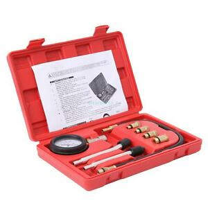 Automotive Gas Engine Cylinder Compression Tester Gauge Auto Tool Kit 0 140pis