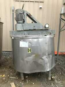 375 Gallon Stainless Insulated Steam Kettle Mixing Tank W 1 2hp Lightnin Nd 2