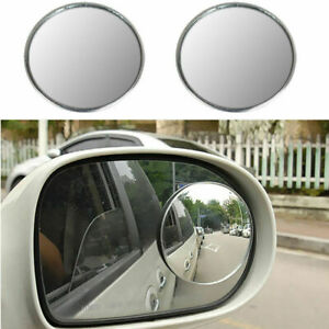 2pc 3 Round Stick on Wide Angle Convex Blind Spot Mirror For Cars Trucks Suvs
