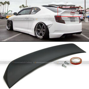 Fit 11 16 Scion Tc Rs Style Primer Black Abs Plastic Rear Trunk Wing Spoiler