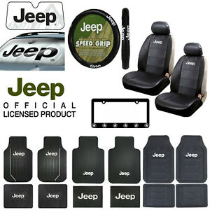 Jeep All Weather Floor Mats Seat Covers Steering Wheel Cover Sun Shade