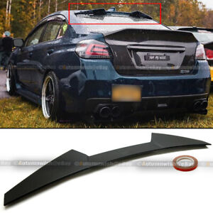 Fit 15 19 Wrx Sti High Kick V Flat Matte Black Rear Window Roof Spoiler Wing