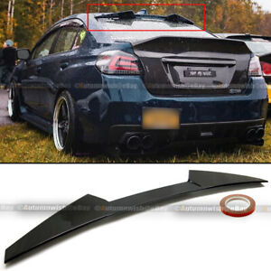 Fit 15 19 Wrx Sti Jdm High Kick V Glossy Black Rear Window Roof Spoiler Wing