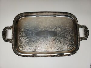 Oneida Silver Smiths 18 1 2 X 12 1 2 Silver Plate Serving Tray