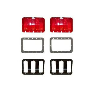 67 68 Mustang Tail Light Kit Original Tooling Lenses